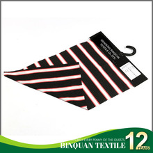 Hot selling polyester rayon red black and white stripes stretch rib fabric for collar and cuff