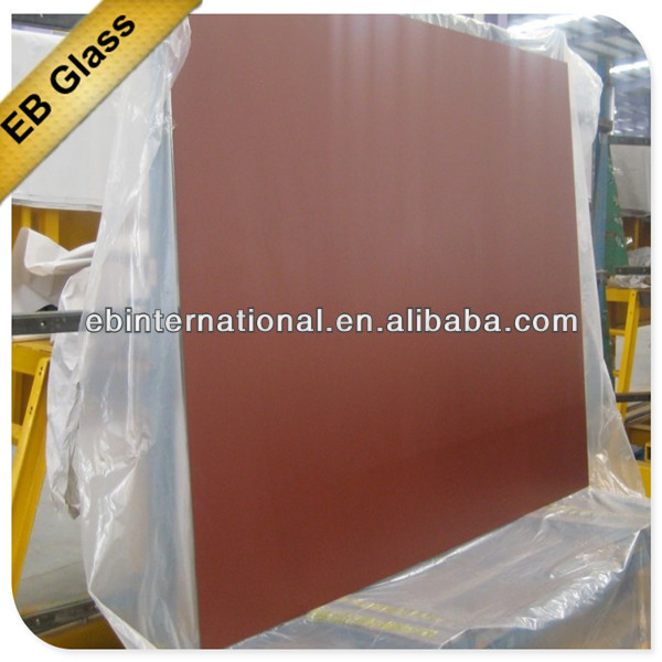 1.5-8mm bronze tinted mirror glass / double coated aluminum mirror