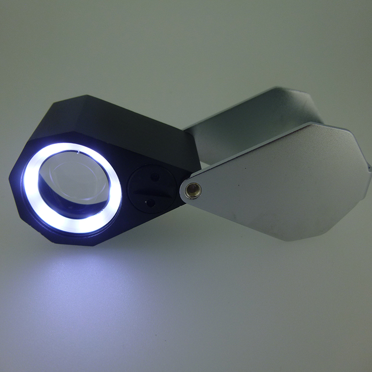10x21mm triplet magnifier with led and uv lamp