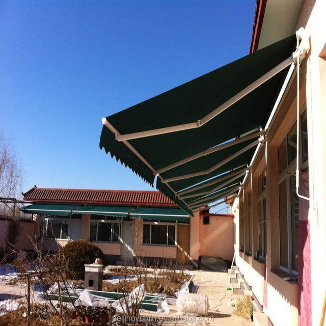 New Deluxe and Intelligent Aluminum No Cassette Fold Arm Awning