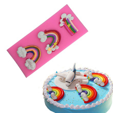 Best selling Rainbow Cloud Silicone delicious cake tools,food grade silicon Cake Decoration FDA pass custom-made cake mold