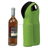 Neoprene 2 bottle wine tote cooler bag holder sleeve