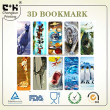 Promotional Gift Animation 3d bookmark, bookmark 3d,animation 3d bookmark