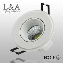 2013 new products white 3w mini dimmable cob led spotlight