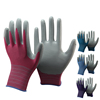 NMSAFETY China Direct Import polyester Half Coated Garden Nitrile Gloves For Safety Product