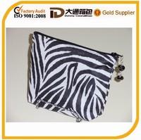 small zipper pouch zebra make-up bag