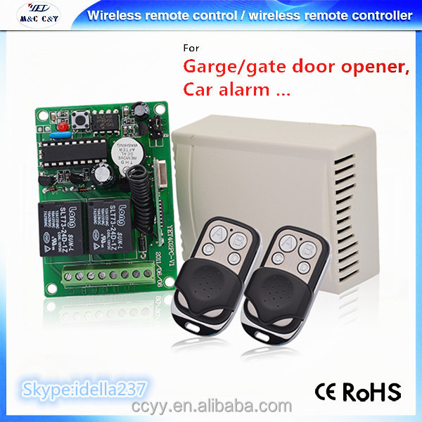 2017 2 Ch Wireless Relay Remote Control Switch Control for Gate Door