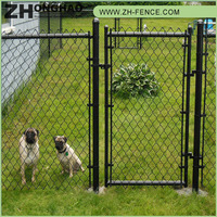 Galvanized coated resisting concussion used chain link fence for sale