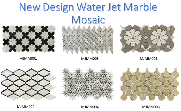 Italy design water jet mosaic tile inside wall tiles