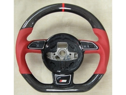 Auto Parts 100% Real Carbon Fiber Steering Wheel for A3 A4L A5 A7