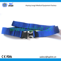 Emergency scoop stretcher strap/belt/band with metal buckle and clips