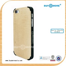 Hot! Custom High quality wood PC hard phone Case For iPhone 5 5s