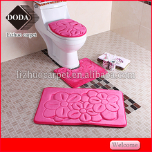 microfiber anti-slip bath mat,bathroom rug 3 pcs