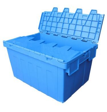 Big <strong>plastic</strong> nested and stacked storage boxes and bins