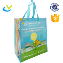 eco-friendly recycle promo advertising spunbond rpet laminated nonwoven shopping tote bag