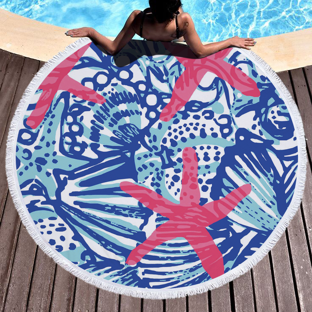 Custom beach towel Microfiber Large Towels For <strong>Living</strong> Room Home Decor Picnic Mat Swimsuit Wrap Skirt Shawl 150x150cm