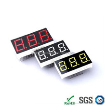 Triple 3 digits Single color small 7 segment led digital display 0.28 inch led digital display for display boards price