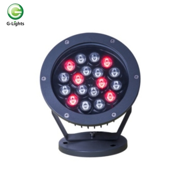 18W mini RGB color changing outdoor led flood light