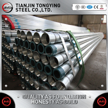 SS330 EN10219 HDG round structural steel price per ton