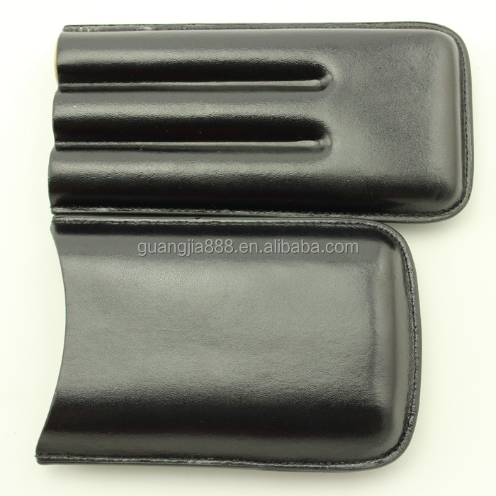 3 finger leather cigar case,cigar case for travel