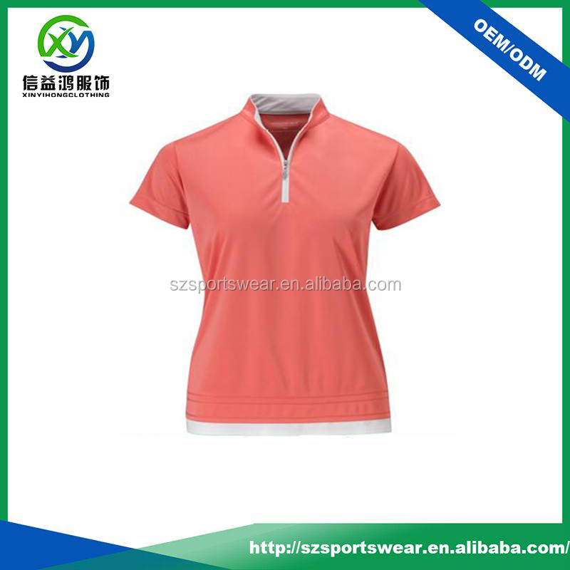 2016 New style high quality women golf apparel / golf shirt dri fit
