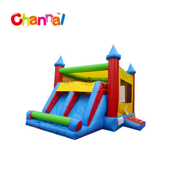 Commerical jumping castle inflatable castle bouncer castle with slide