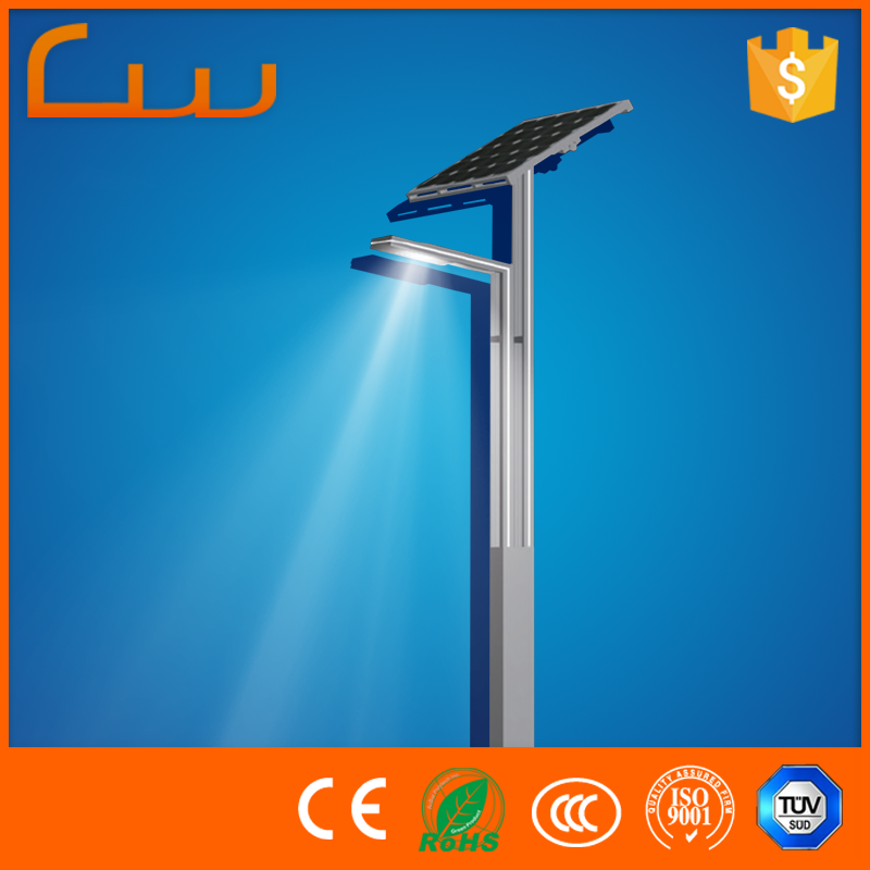 Best quality 3M stone pillar lighting pole solar led light for garden
