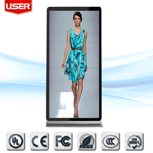 USER-PLS Optical Seamless splicing floor stand digital signage with dual lcd screen