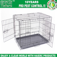 "Haierc 42"" Dog Crate with Divider, Double-Doors Folding Pet Cage with Metal Wires, Removable ABS Plastic Floor Tray"