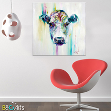 China giraffe pop art canvas animal oil painting for home decoration