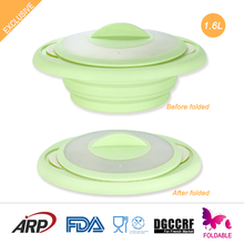 1.6L silicone steam cooker microwave bowl