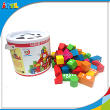 DIY Intellectual Learning Wooden Block For Kids Wooden Block Game