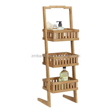 3 tier bamboo bathroom shelf bath storage caddy