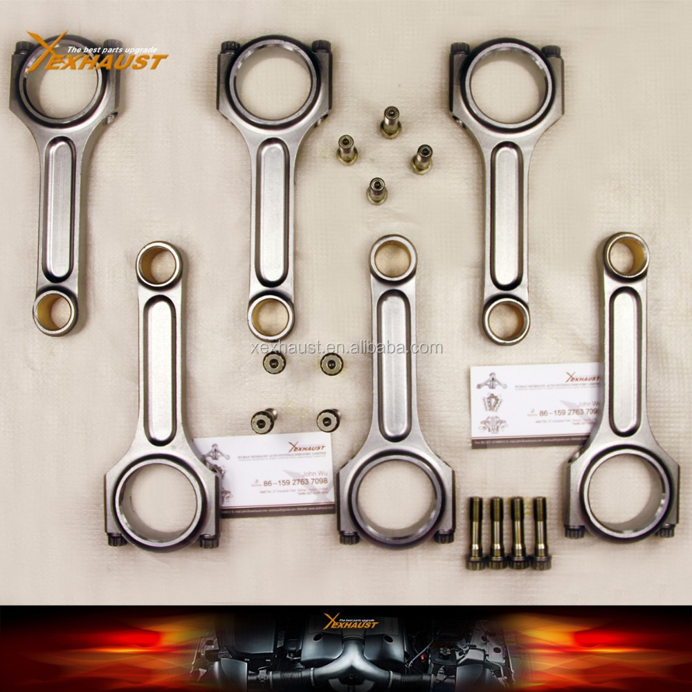 Forged 4340 Chromoly Steel Bronze Bush I Beam Connecting Rods Chevy SBC 350