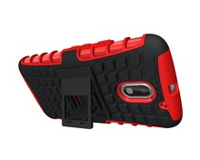 alibaba stock rugged phone holder case accessories parts custom kickstand cover shell for Moto E3