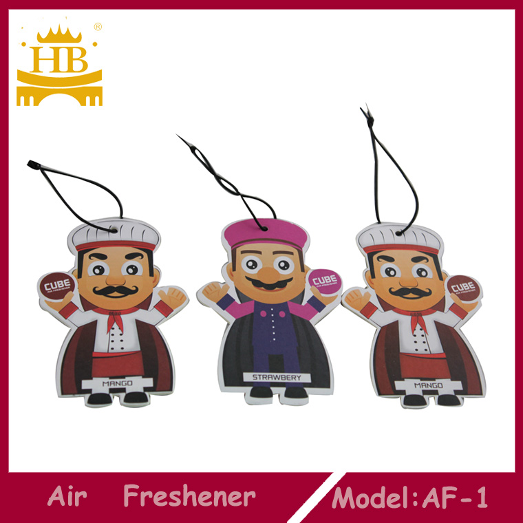 Customized design Hanging Car cotton paper Air Freshener for car