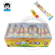 Round Shape Sugar Coated Jelly Lollipop Candy Soft Gummy Candy