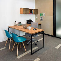 industrial loft style office furniture , L shape office table for stuff