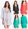Wholesale Women Sexy Loose V Neck Beach Dress