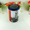 China wholesale food grade tall round storage tin can for tea