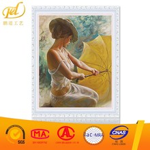 2017 New Style Classical Beauty Woman Handmade Artistic Wholesale Diy Oil Painting Paint Art On Canvas By Number a242