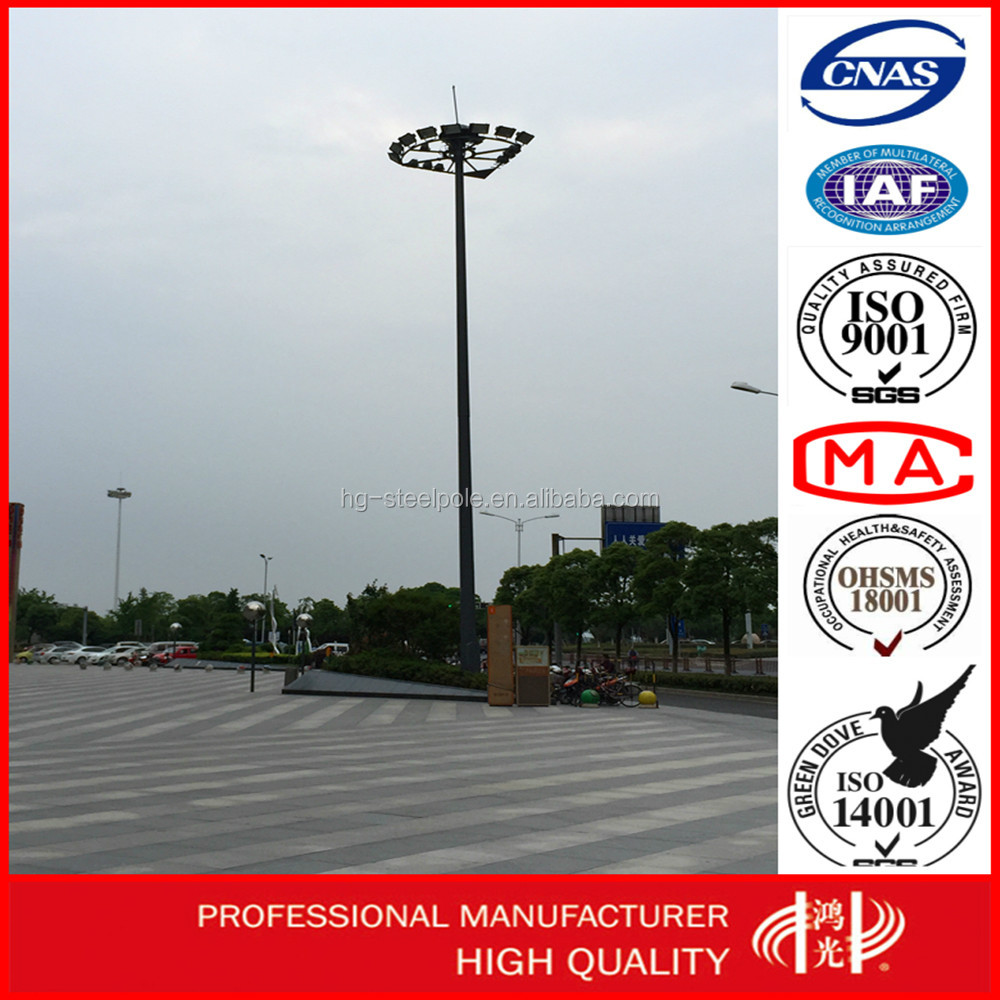 High Mast Anti-Rust outdoor light tower with Lifting System