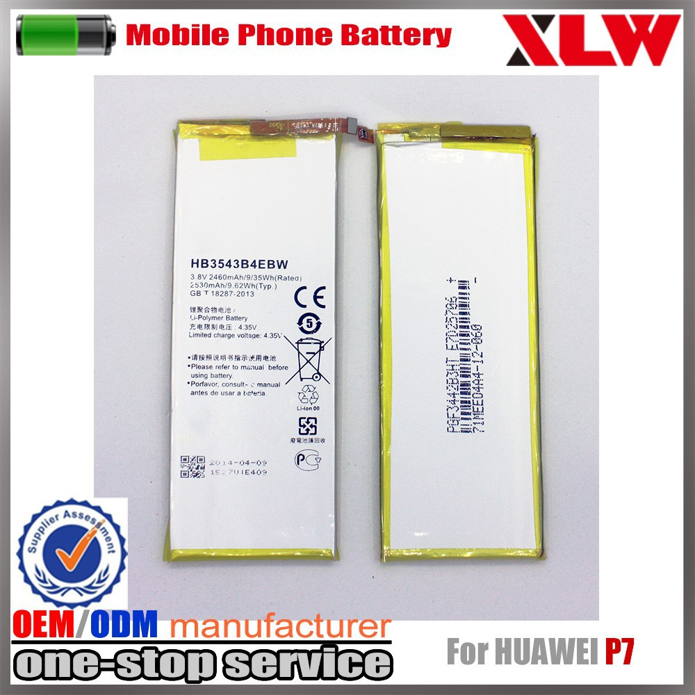Factory stock Mobile Phone Battery HB3543B4EBW for Huawei P7