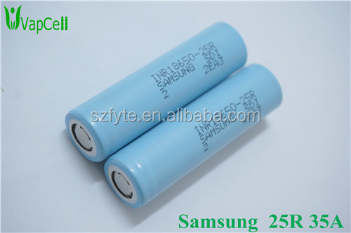Samsung 25r inr18650 2500mah 3.7v battery Samsung battery samsung lithium ion battery cell