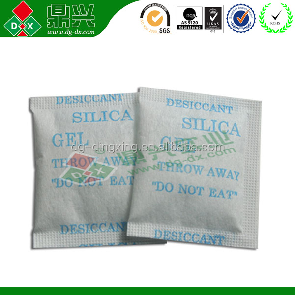 10G Eco-friendly DMF free Silica Gel Supplier for shoes clothes SGS Report