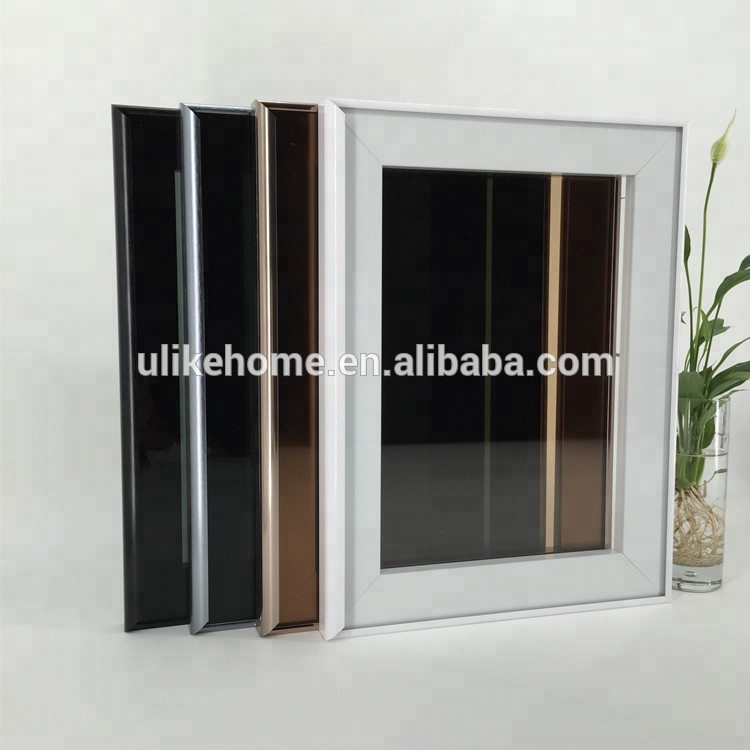 Small Order Acceptable Silver White Black Chamgne color Aluminum Frame Kitchen Cabinet Glass <strong>Doors</strong>