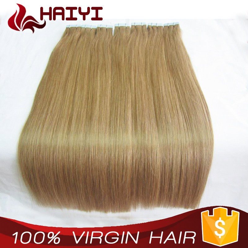 Very thick bottom Double drawn100 unprocessed raw virgin 26 inches tape human hair extensions