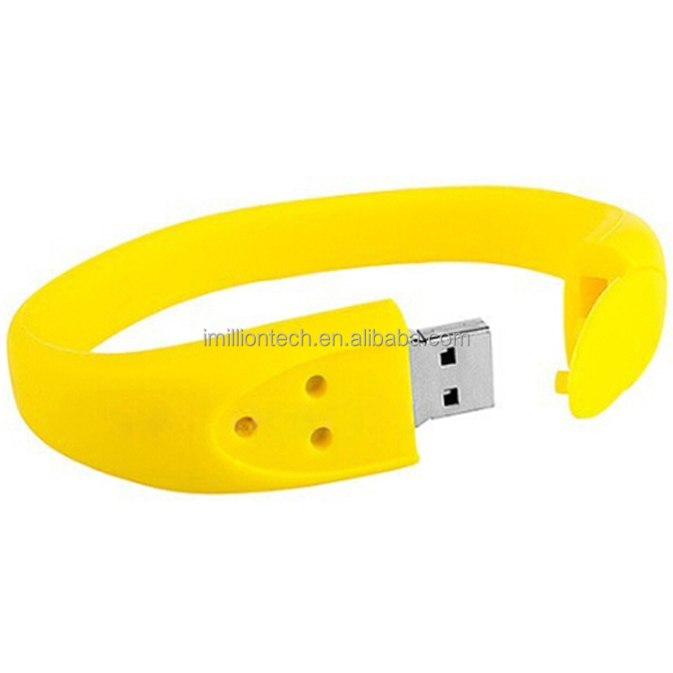 Fashion Silicone Bracelet 8GB USB 2.0 Flash Memory Stick Pen Drive Thumb U Disk