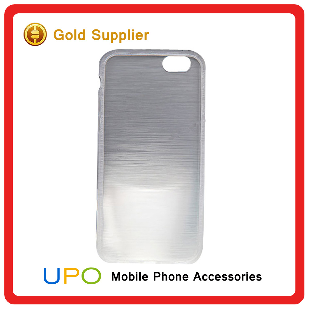 [UPO] 2016 Newest Item Transparent Crystal Brushed TPU Shockproof Phone Cover Case for iphone 6