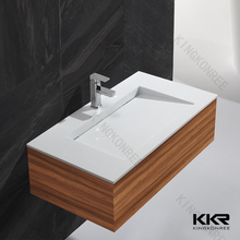 bathroom furniture ceramic cabinet wash basin with basin faucet
